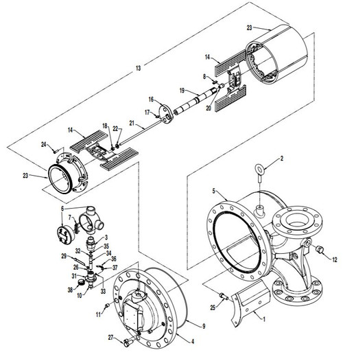 FMC (Smith) Prime 4 Meter Exploded View