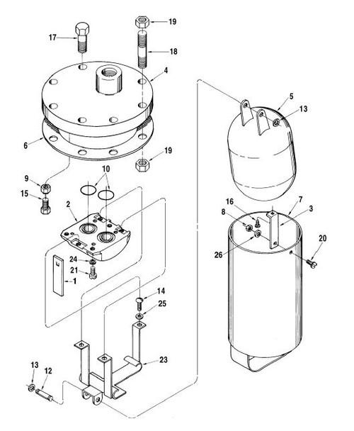 Technip FMC (Smith) Air Eliminator RB Head Exploded View Parts List