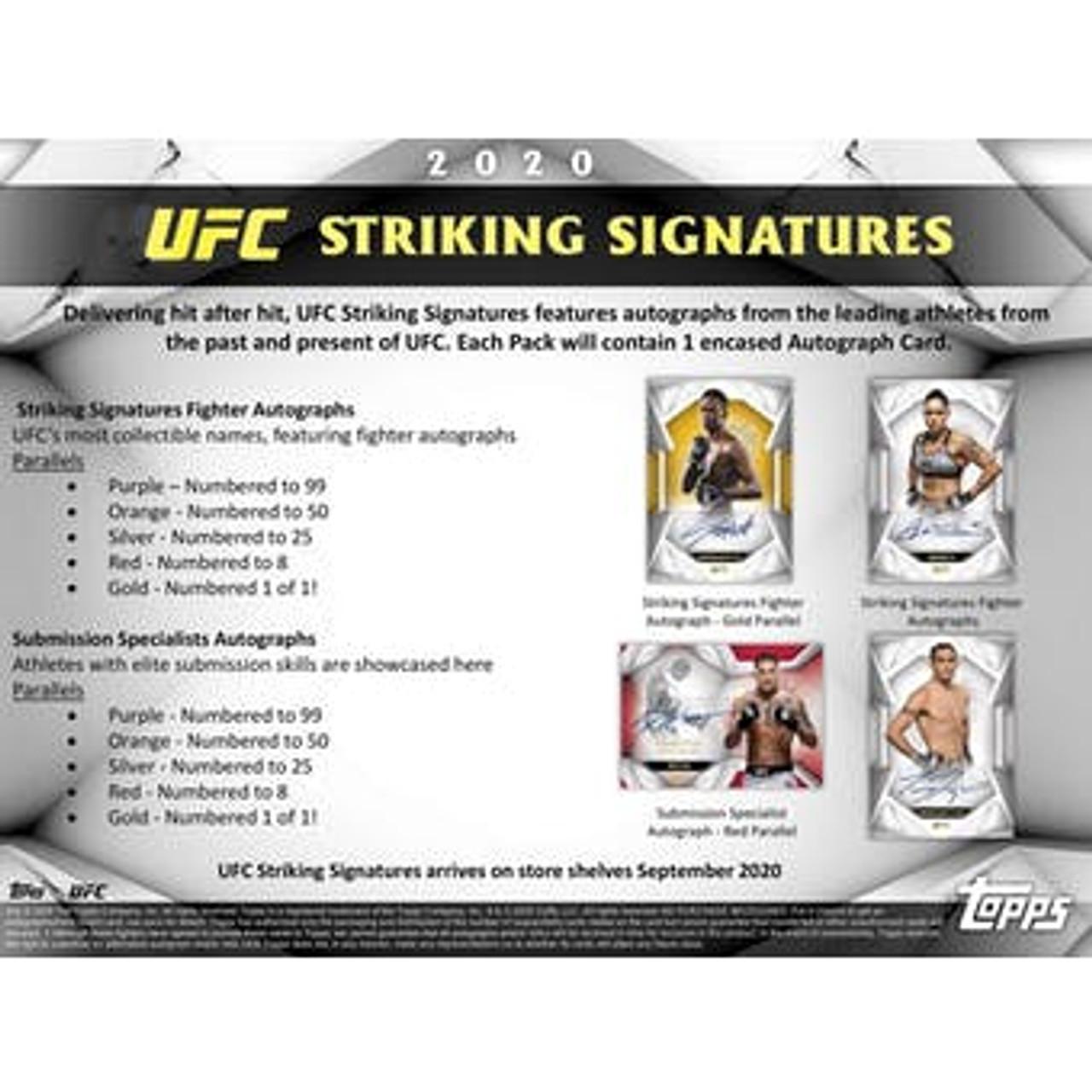 UFC - 2020 Topps UFC Striking Signatures Hobby Box