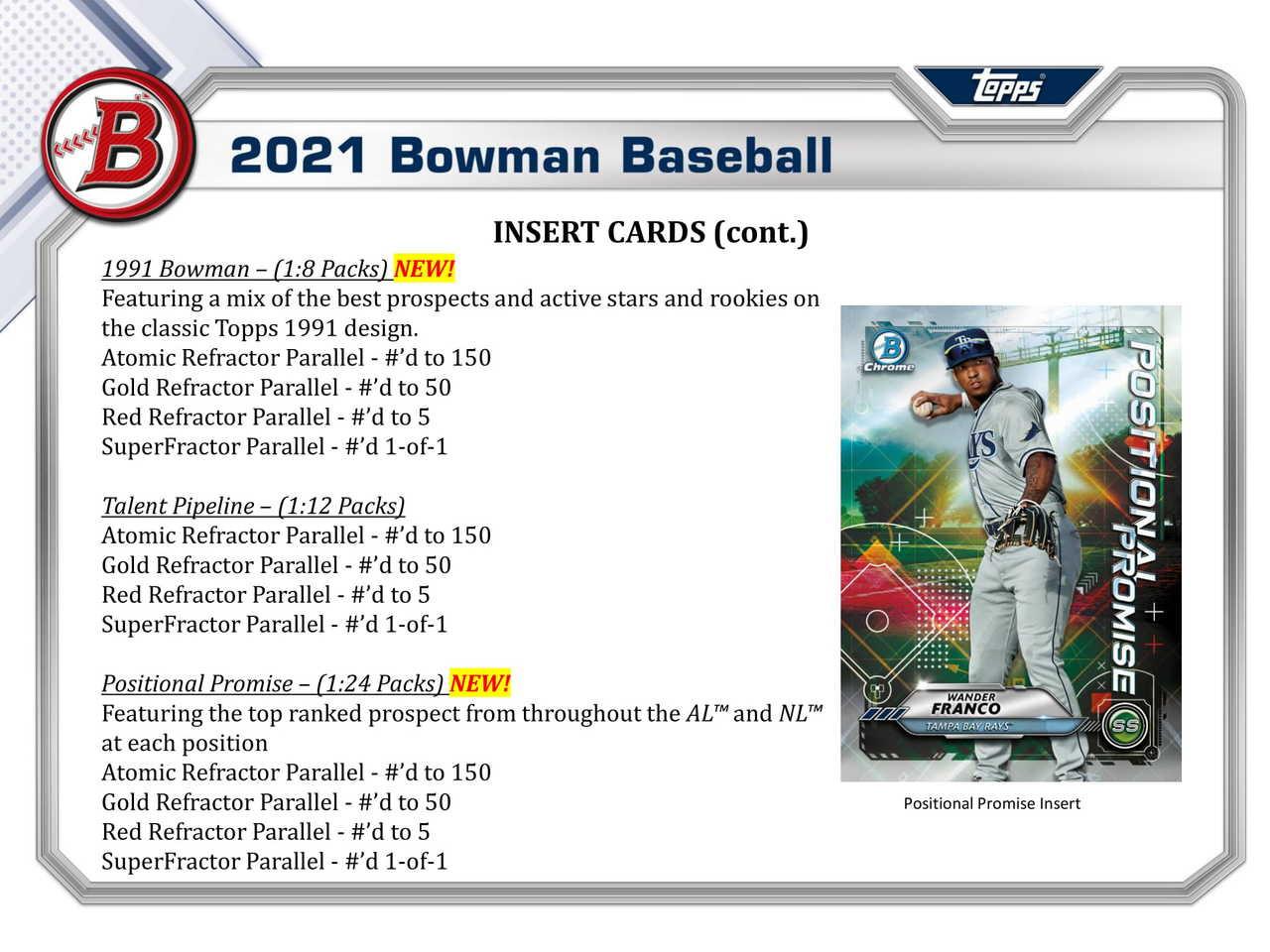 2021 Bowman Baseball Jumbo HTA Box