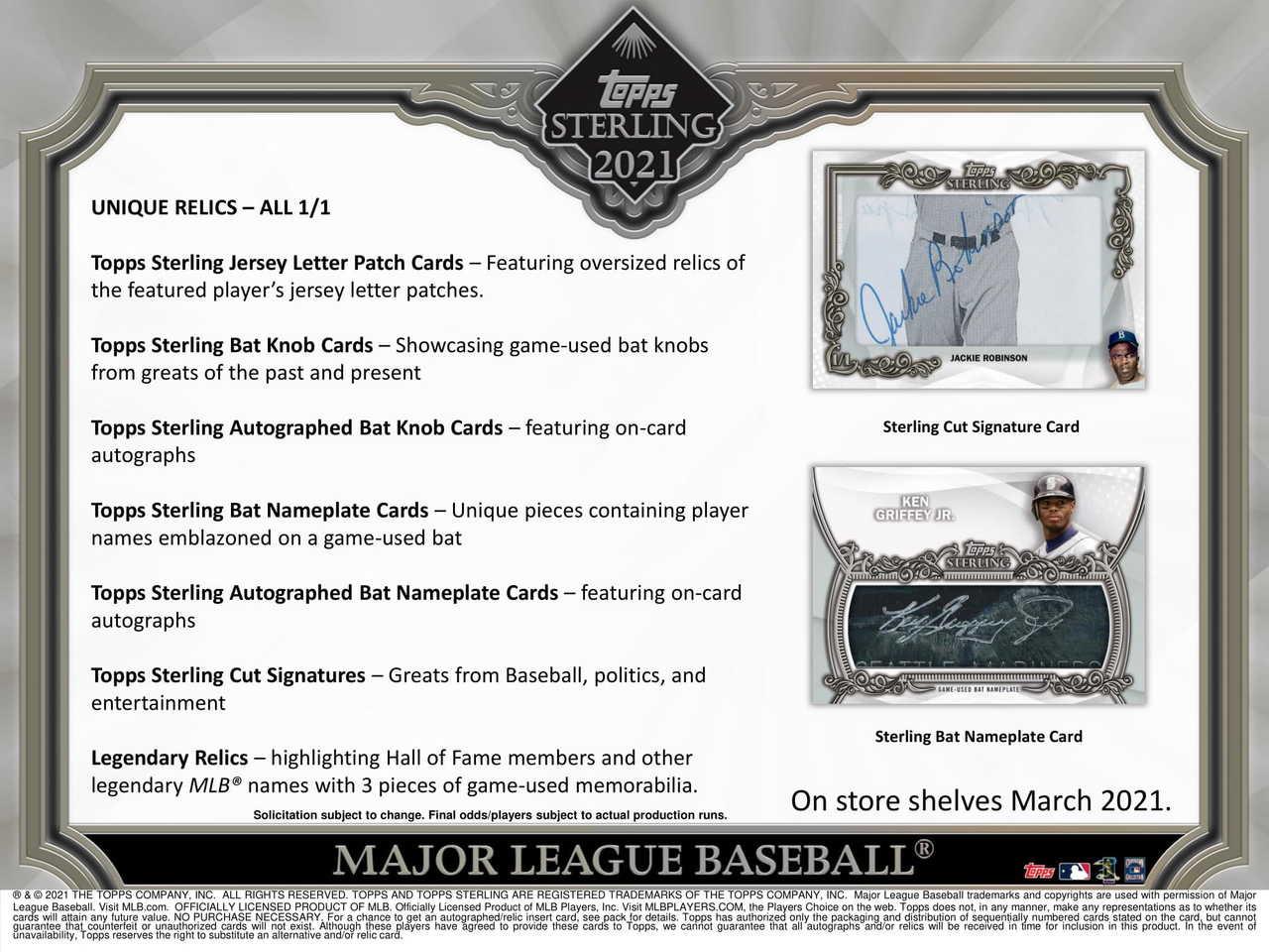 2021 Topps Sterling Baseball Hobby Box