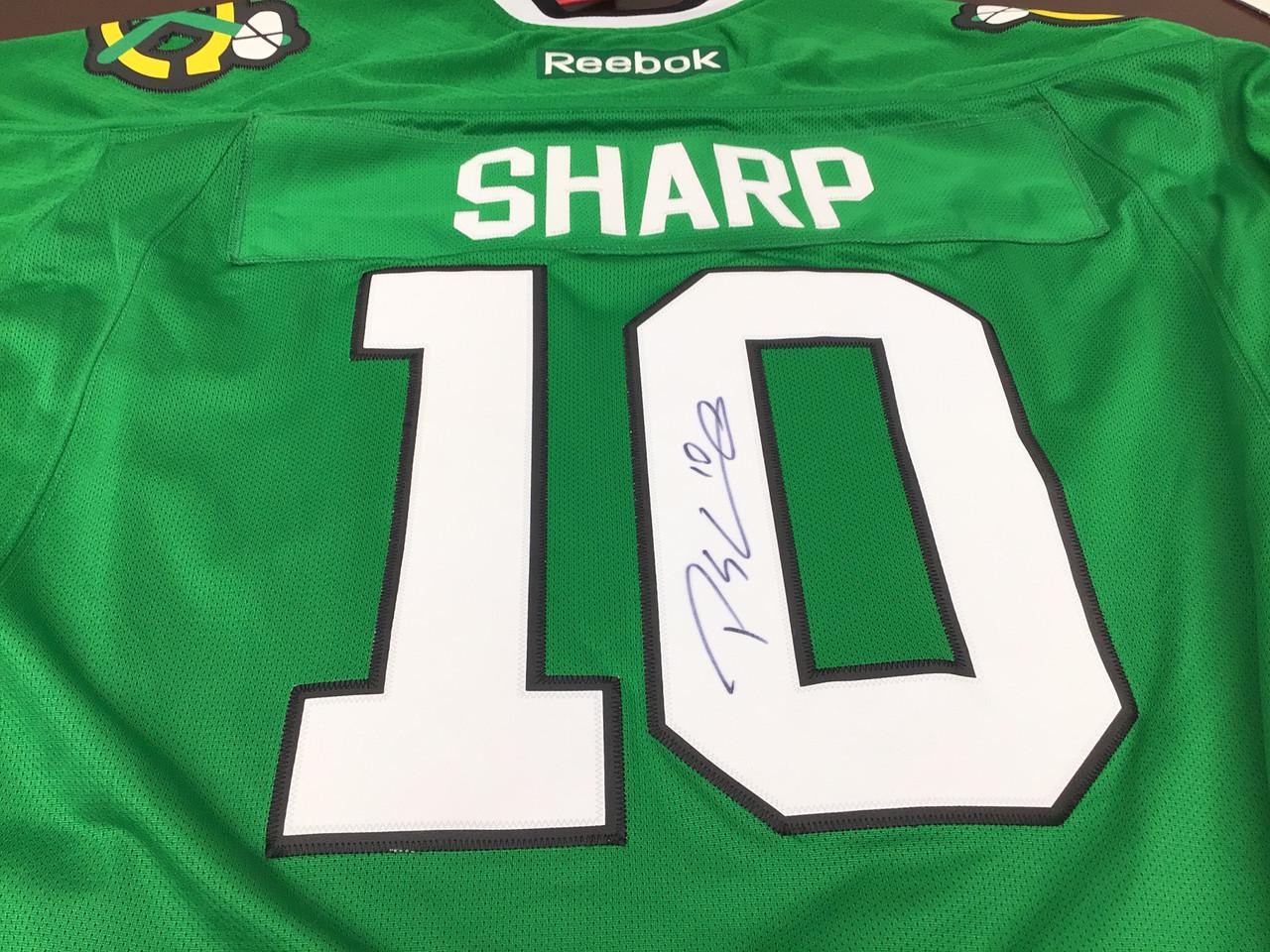 Patrick Sharp Autographed Jersey St. Patrick's Day