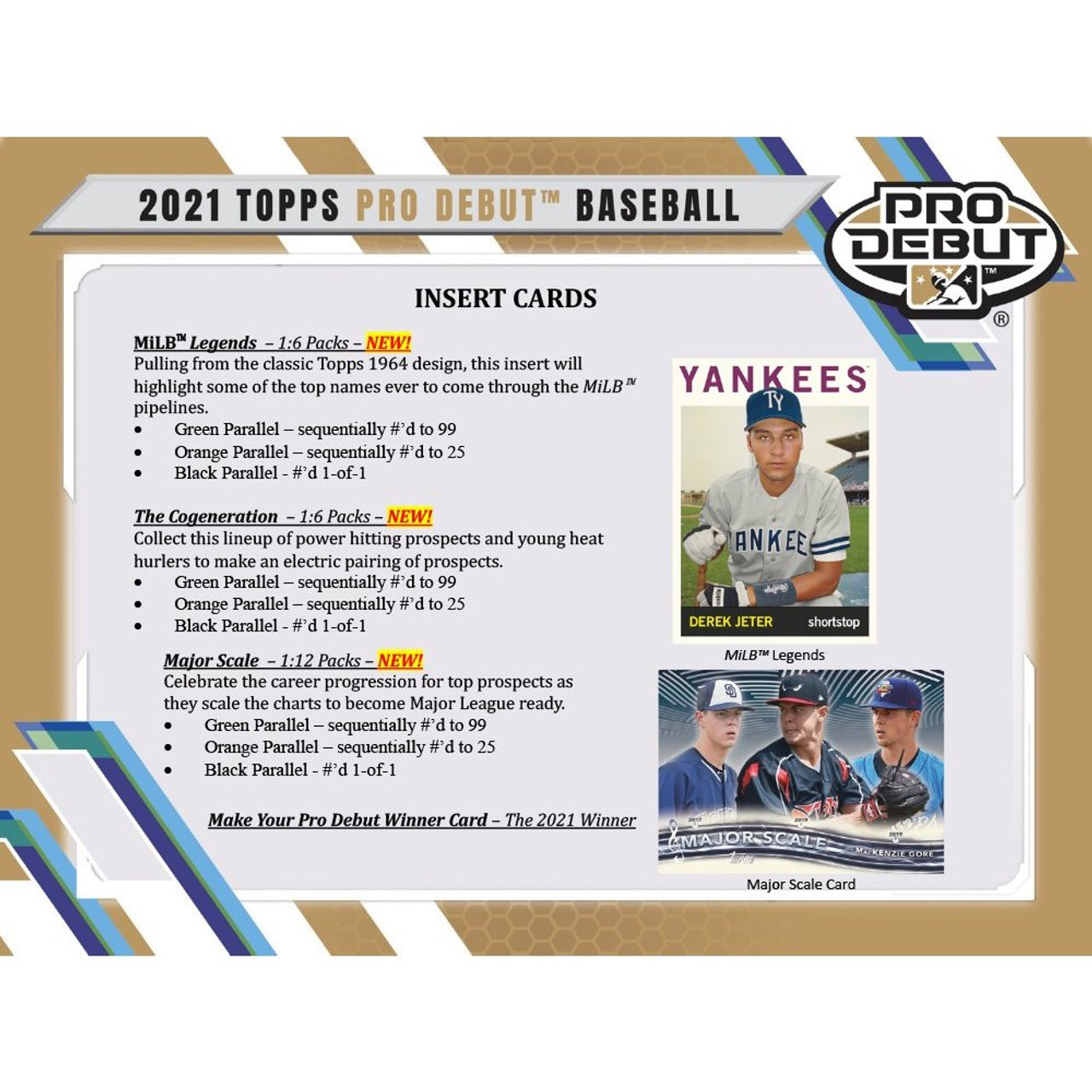 2021 Topps Pro Debut Baseball HTA Jumbo Box