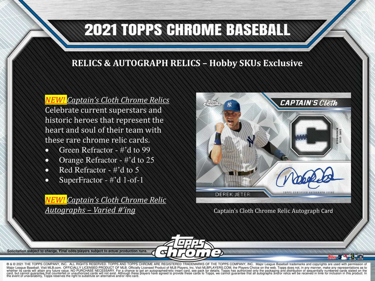 2021 Topps Chrome Baseball HTA Jumbo Box