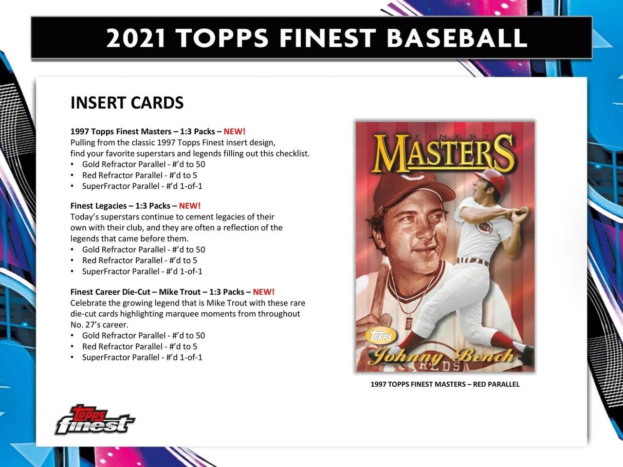 2021 Topps Finest Baseball Hobby Box