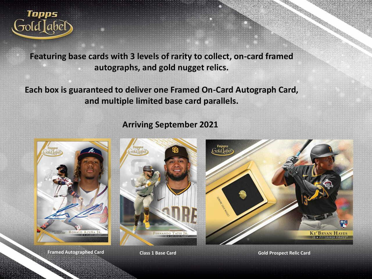 2021 Topps Gold Label Baseball Hobby Box