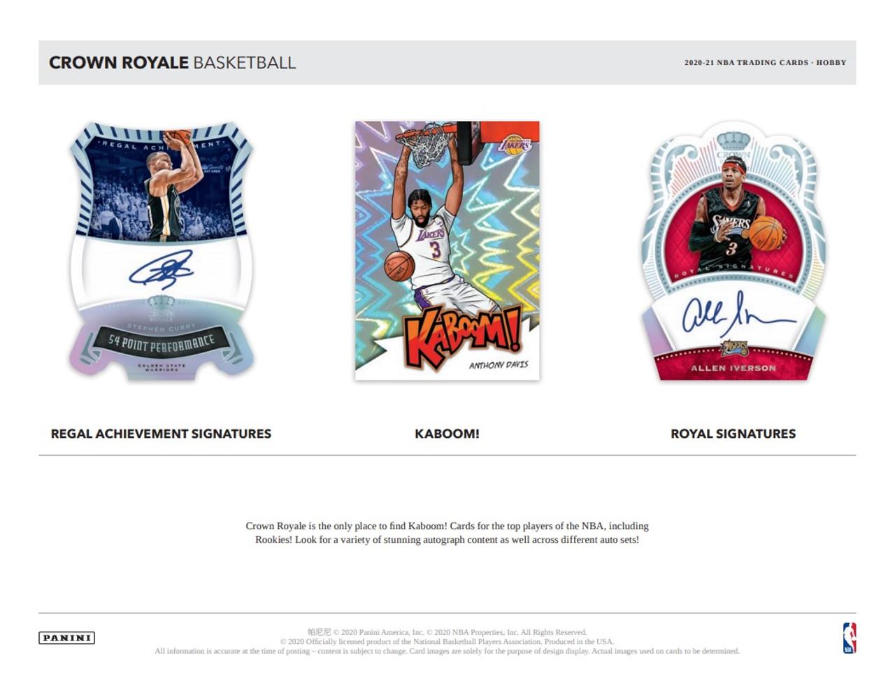2020/21 Panini Crown Royale Basketball Hobby Box