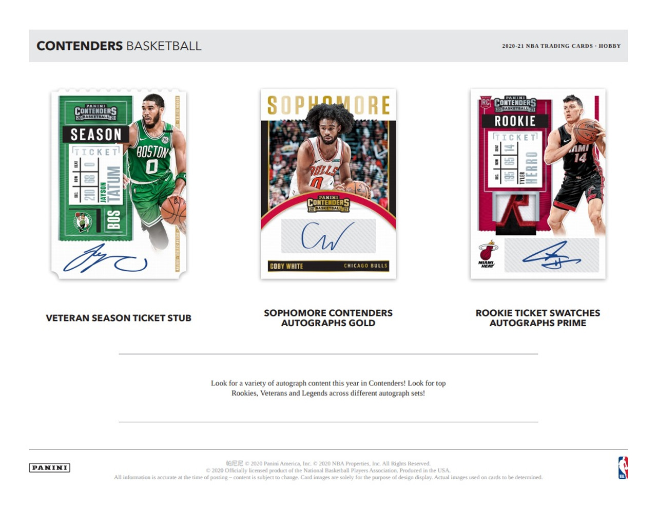 2020/21 Panini Contenders Basketball Hobby Box