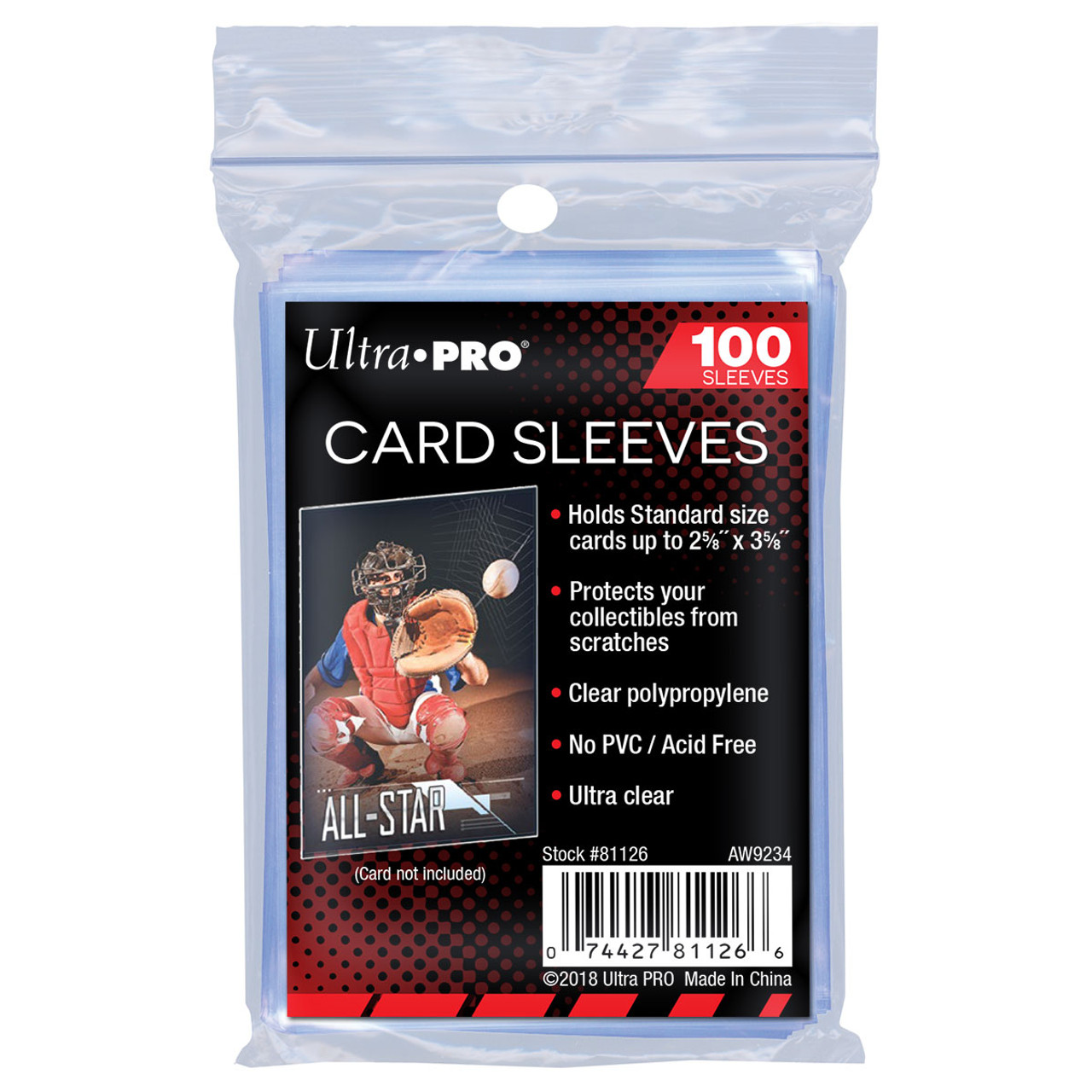 Ultra Pro Soft Card (Standard) Sleeves - 100ct pack