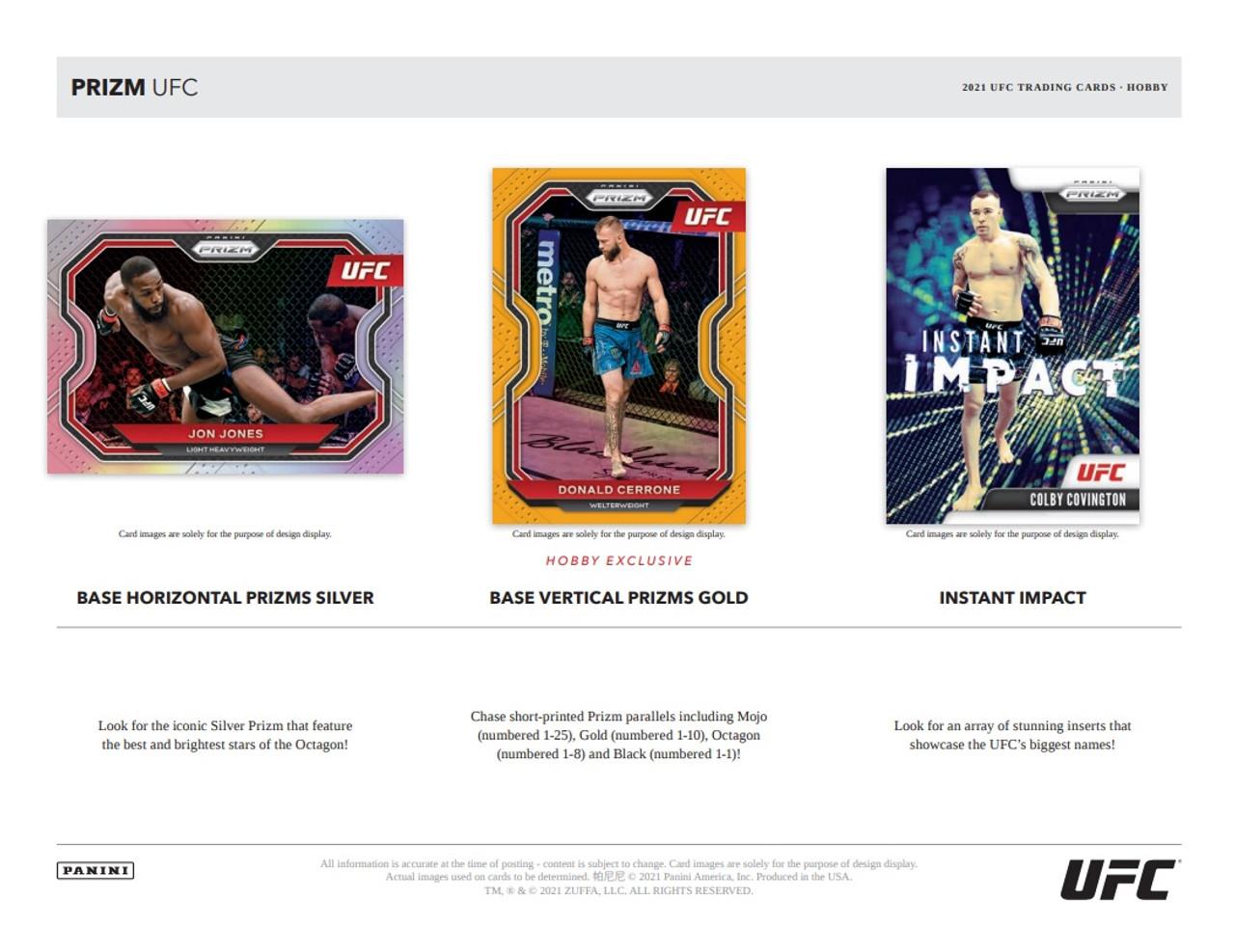 UFC - 2021 Panini Prizm UFC Hobby Box