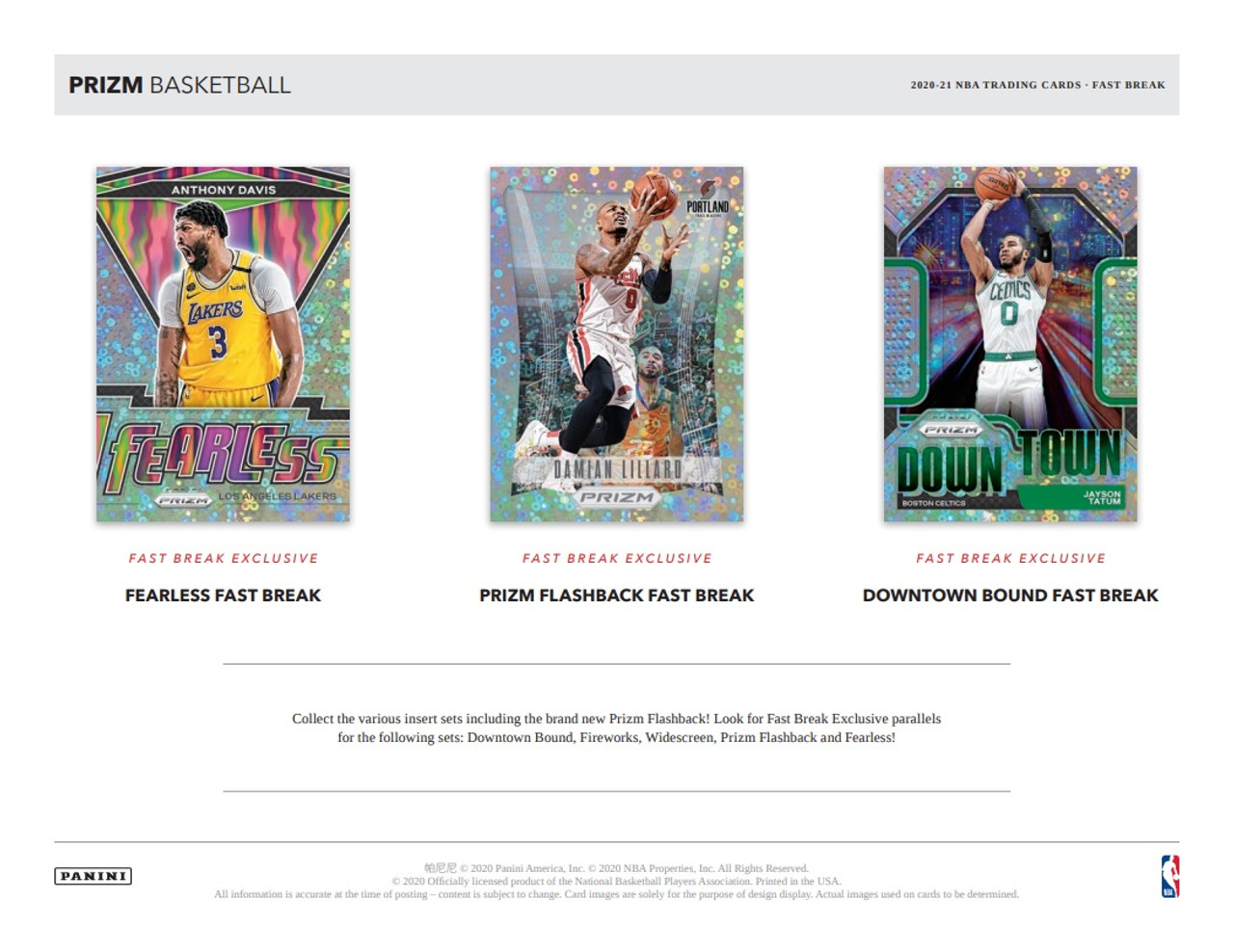 2020/21 Panini Prizm Basketball Fast Break Box