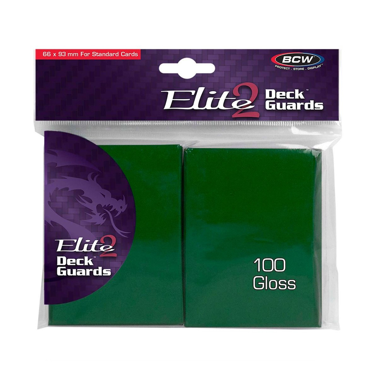BCW Gaming Elite2 Deck Guard - Glossy - Green