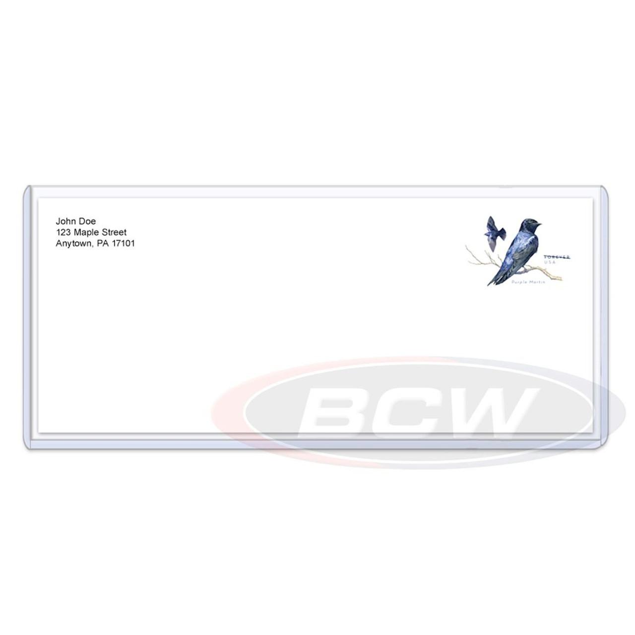BCW Business Envelope #10 Topload Holder (25ct)
