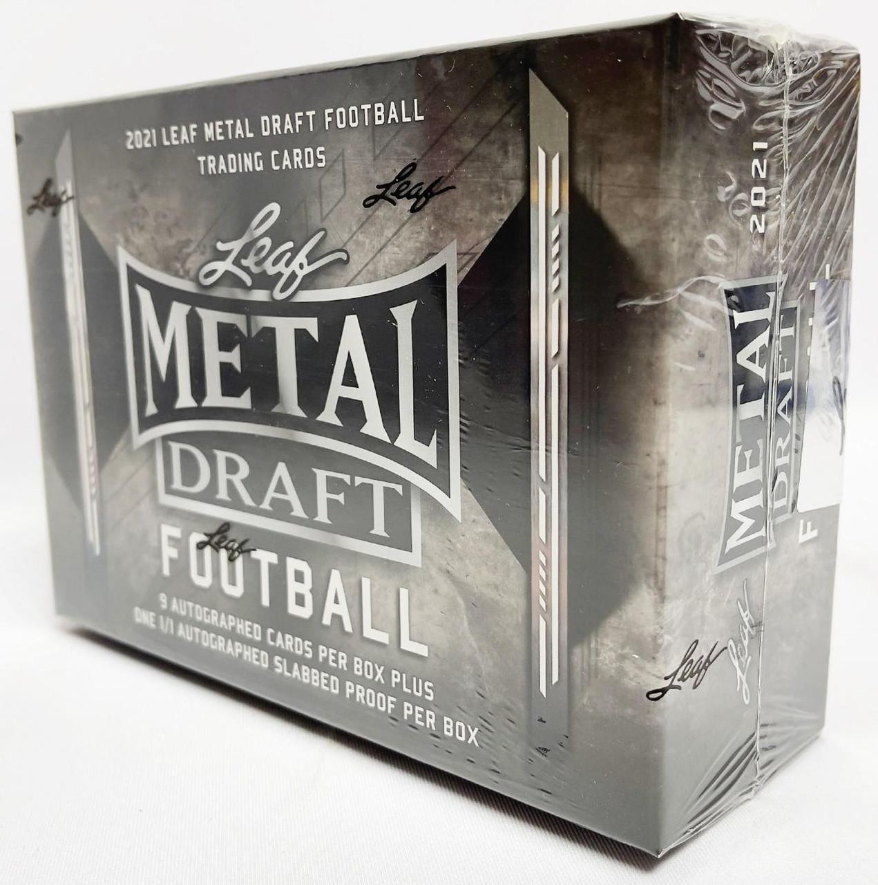 2021 Leaf Metal Draft Football Hobby Jumbo Box