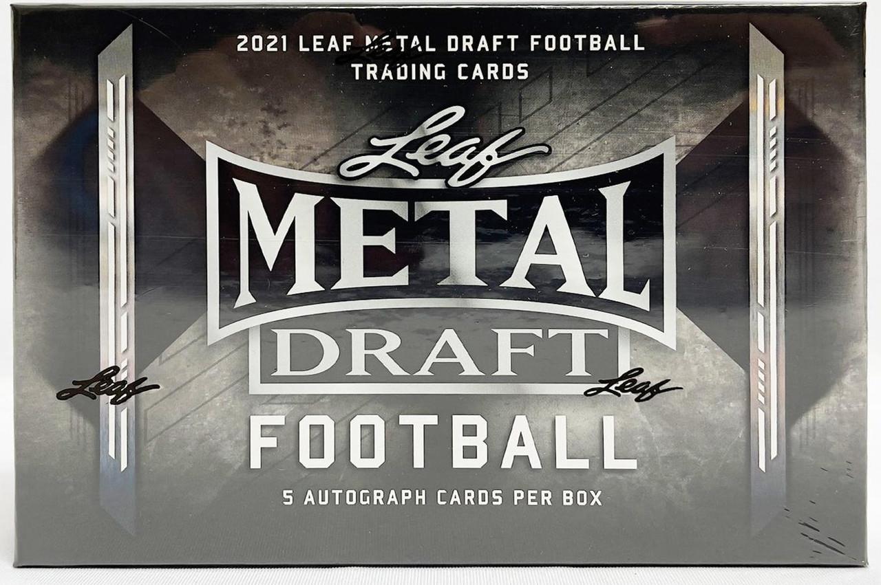 2021 Leaf Metal Draft Football Hobby Box