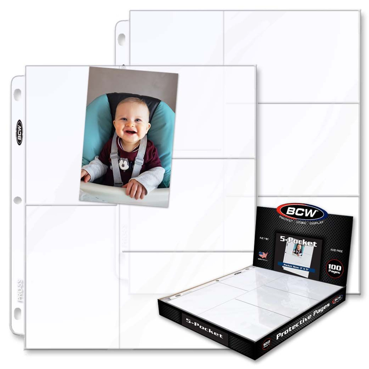 BCW Pro 5-Pocket Pages 100ct Box / Case of 10
