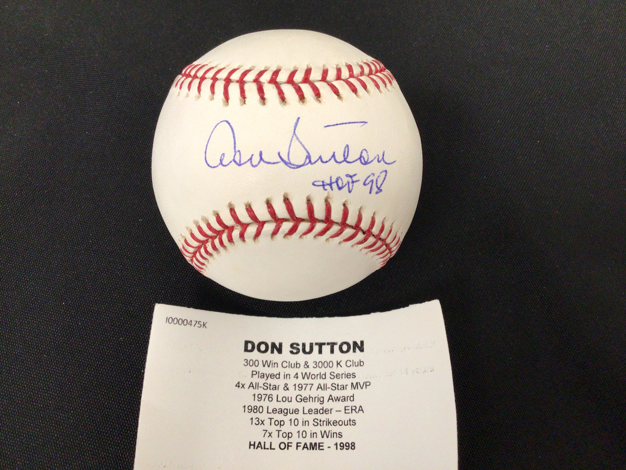 Don Sutton inscribed Autographed Official MLB Baseball Tristar COA #6666