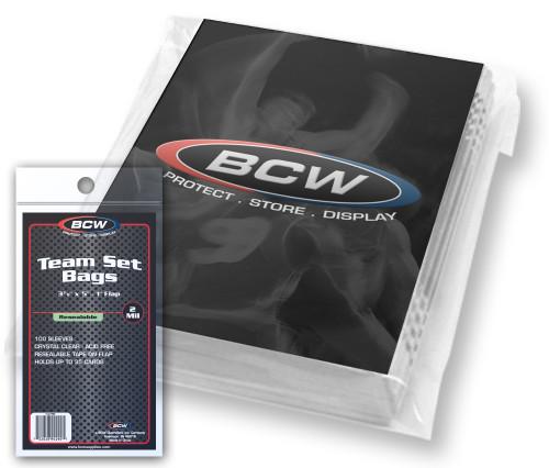 BCW Resealable Team Set Bags