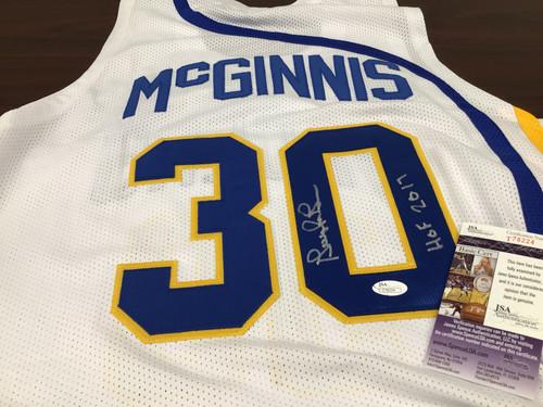 George McGinnis Autographed Jersey JSA