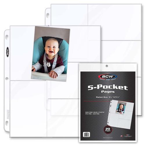 BCW Pro 5-Pocket Pages 20ct Box / Case of 25