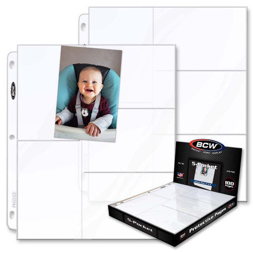 BCW Pro 5-Pocket Pages 100ct Box