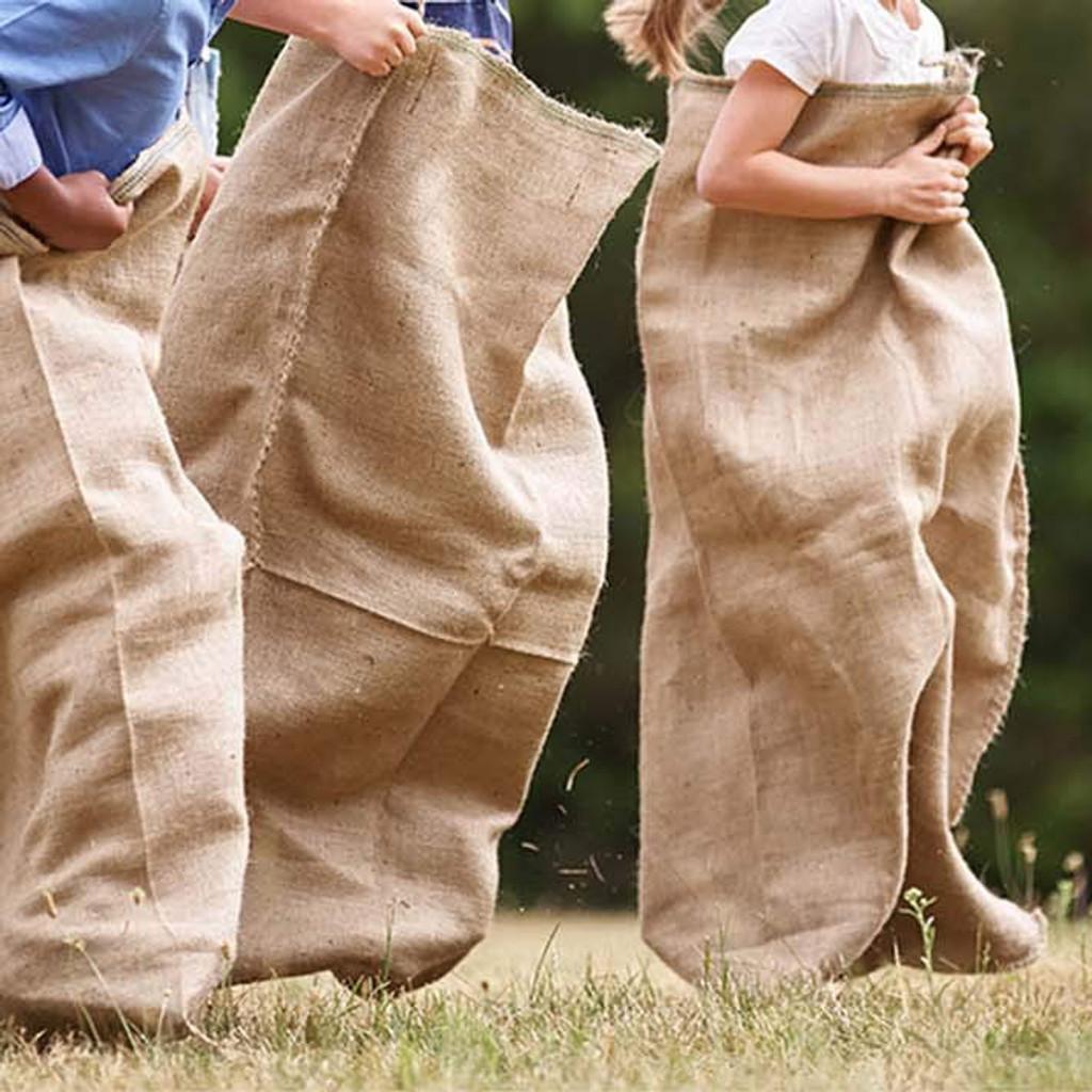 Potato Sack Races with Burlap Bags