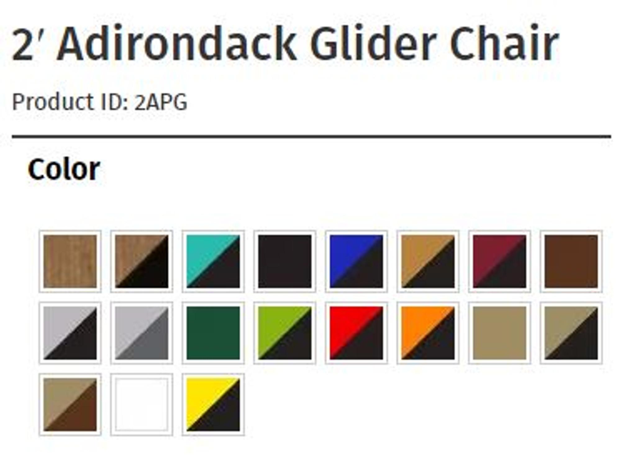 2 Adirondack Glider Chair Luxcraft Outdoor Furniture