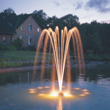 PondJet Floating Fountain Light Set Installed (lighting sold separately)