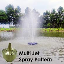 Multi Jet Matala Brass Fountain Nozzles
