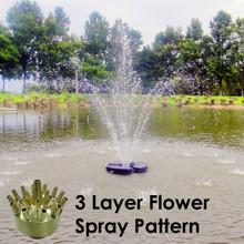 3 layer Matala Brass Fountain Nozzles