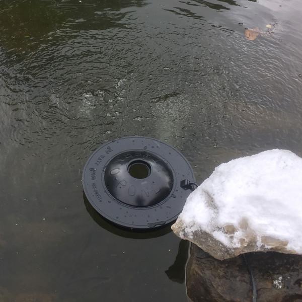 Pond deicer, pond heater