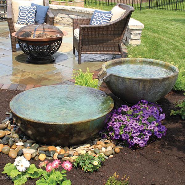 Aquascape Spillway Bowl Fountain Kit Installed