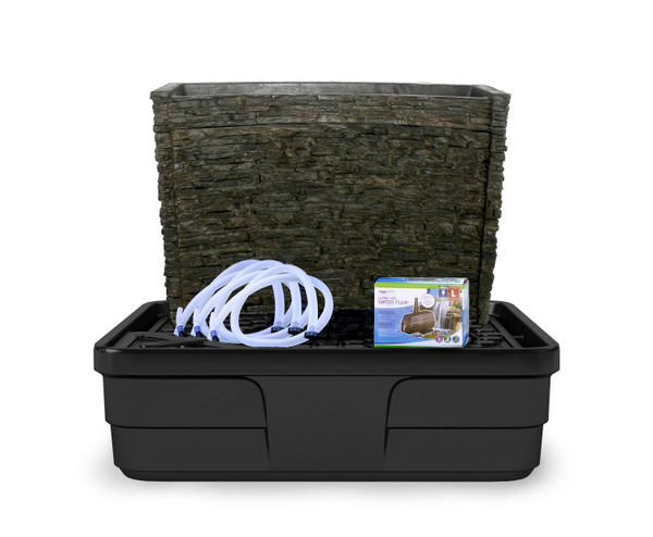 Stacked Slate Spillway Wall Fountain Kit