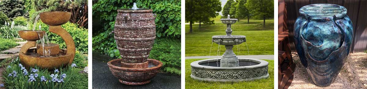 Self-contained Yard Fountains and Pondless Water Features
