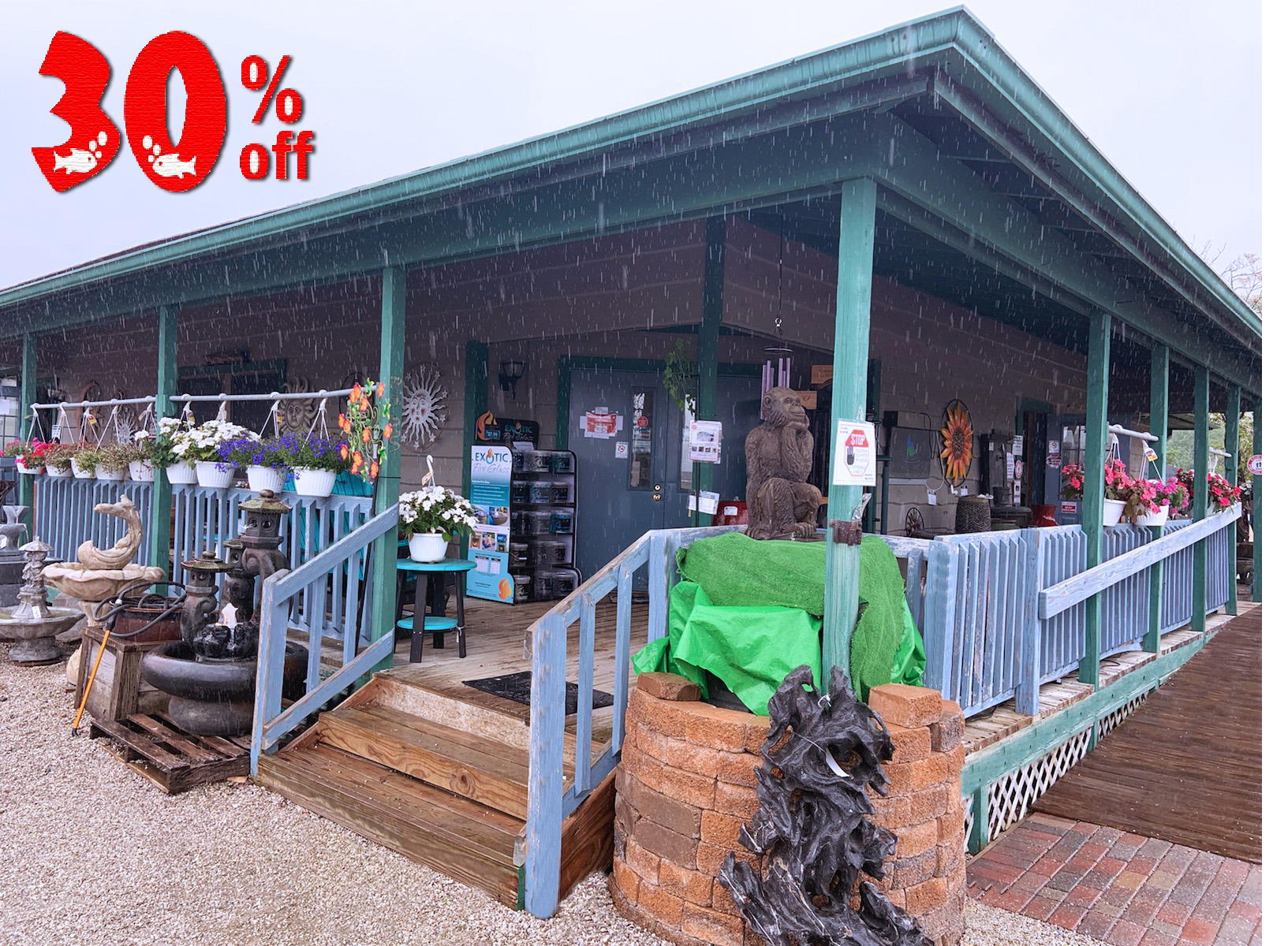 Save 30% on all items on the Porch!