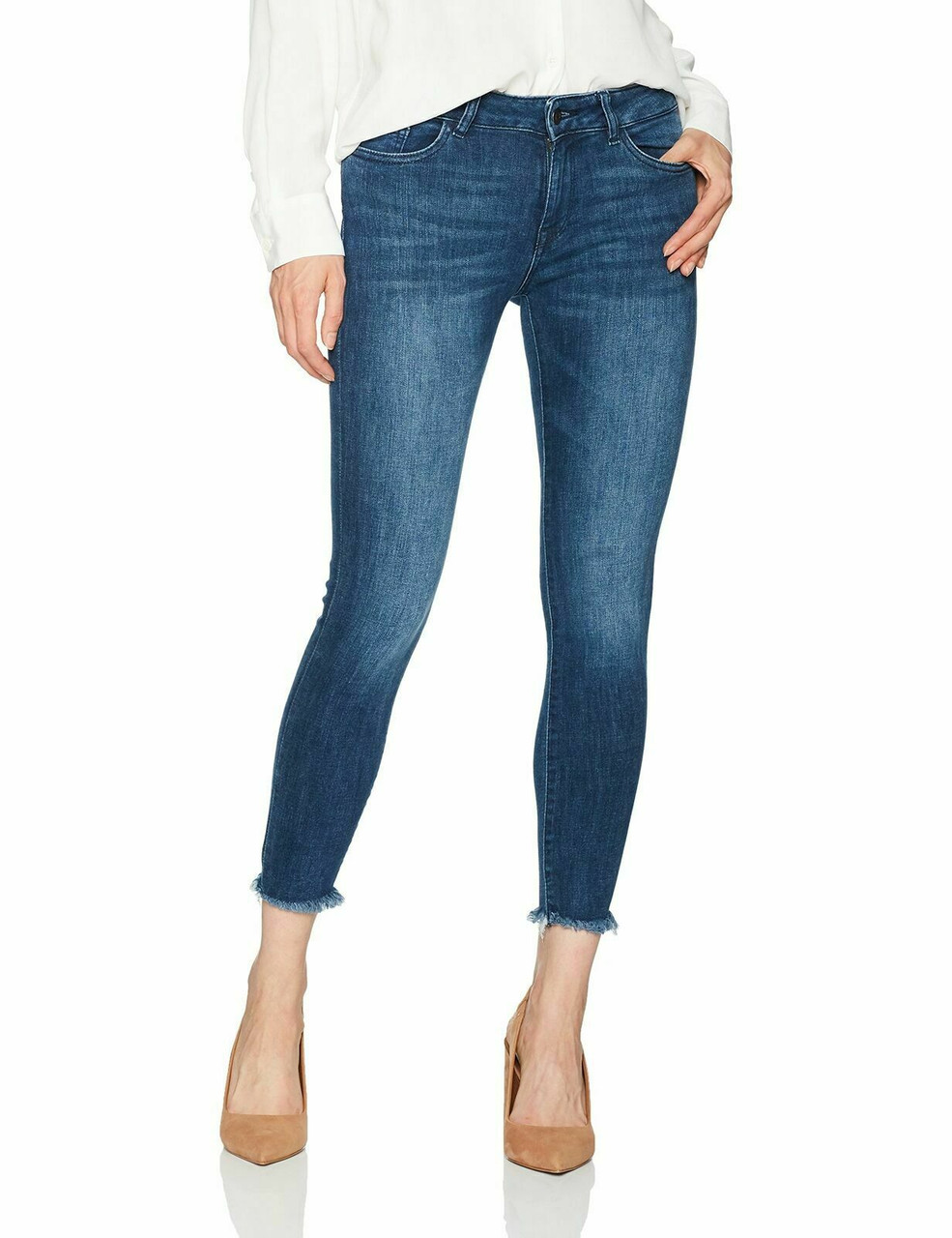 DL1961 Womens Florence Cropped Mid Rise Skinny Jeans