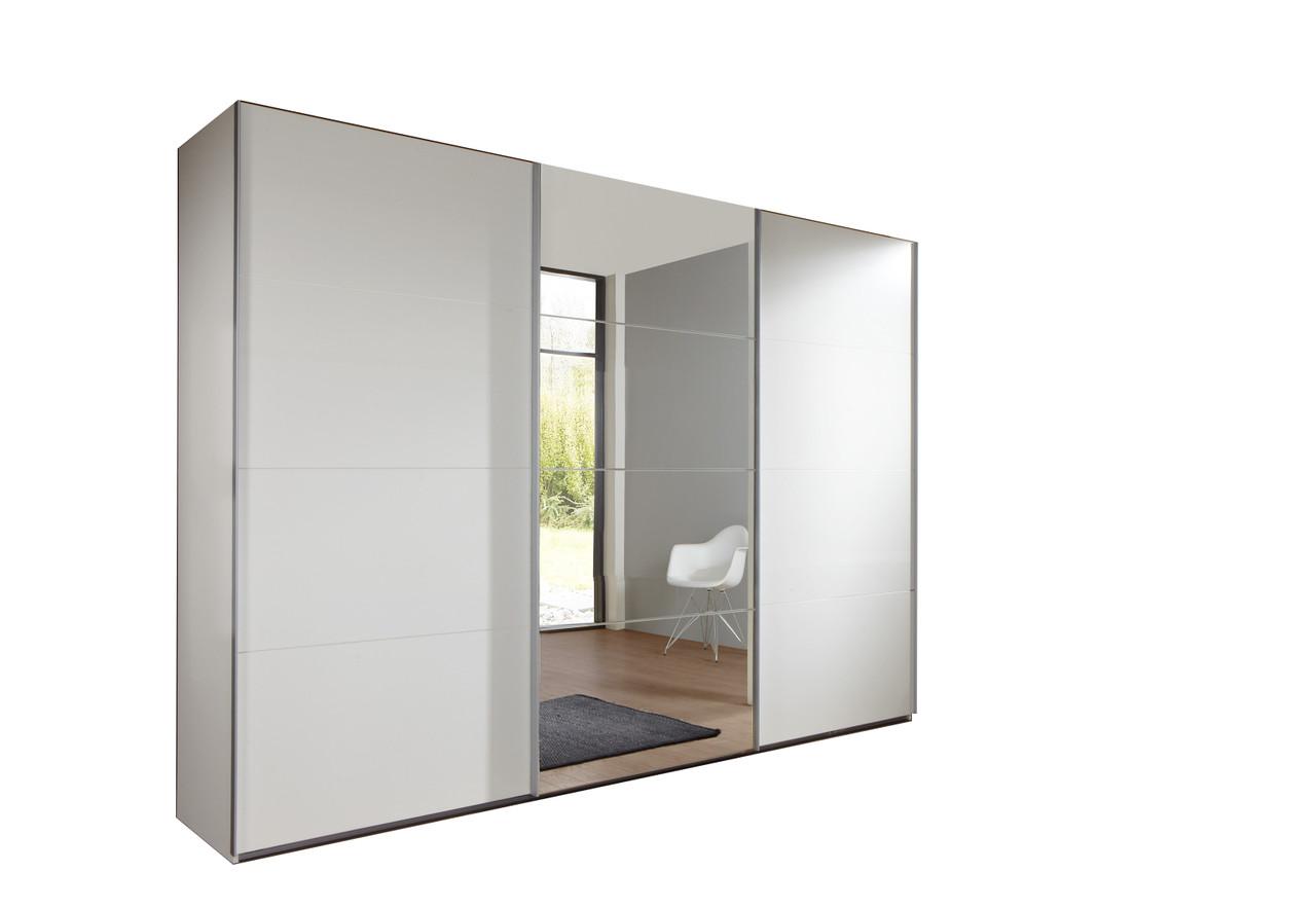 Tesoro White 3 Door Sliding Wardrobe