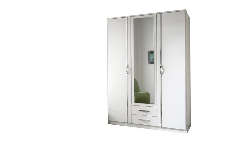 Tesoro white 3 Door 2 Drawer +Mirror