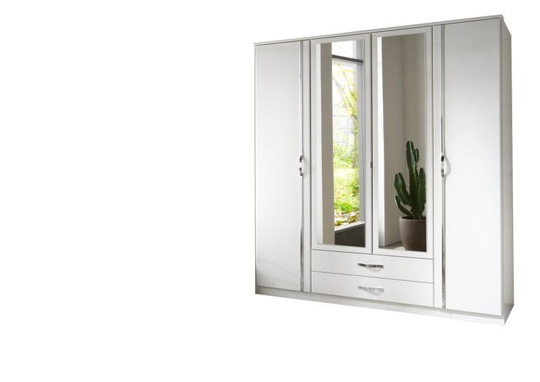 Tesoro white 4 Door 2 Drawer and 2 Mirror