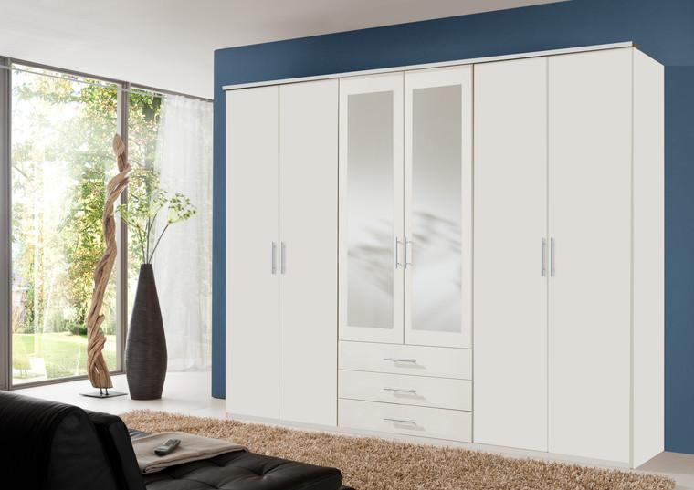 Tesoro TE6 door 3 Drawer White wardrobe