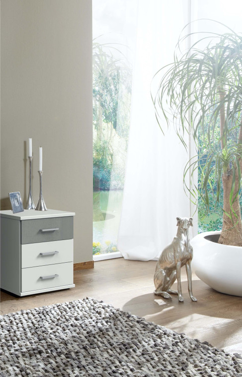 Click White And Grey Bedside