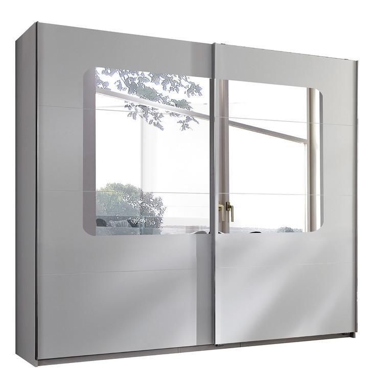 Tesoro white and oak 2 Door 270cm Sliding Wardrobe