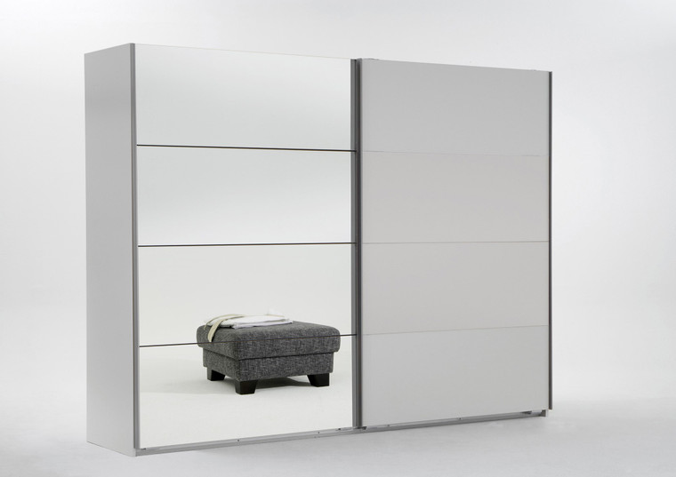 Tesoro White 2 Door Sliding Wardrobe