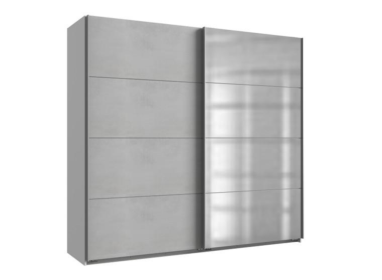 Tesoro White And Light Grey 2 Door Sliding Wardrobe