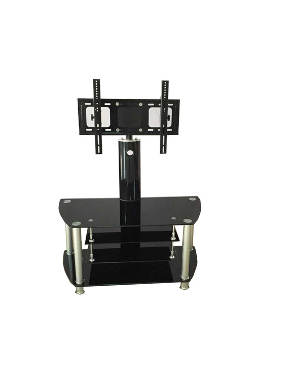 Tesoro TV STAND WITH LCD BRACKET AND 4 BLACK GLASS SHELVES