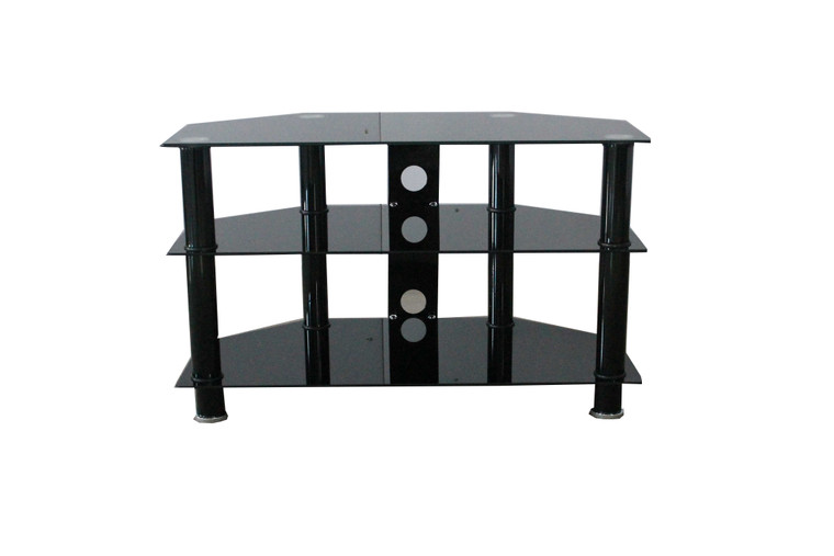 Tesoro  Black 3 shelves tv stand