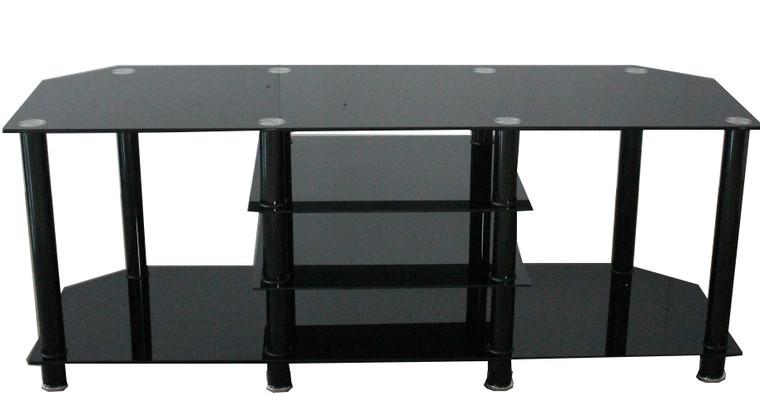 Tesoro Large Black Glass TV Cabinet