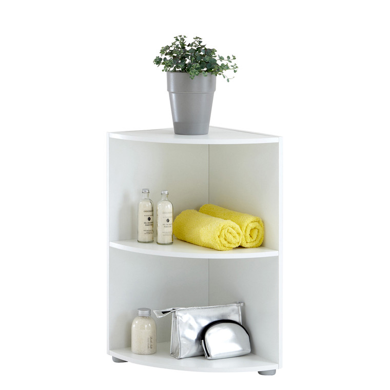 Tesoro 1 White Corner Shelf