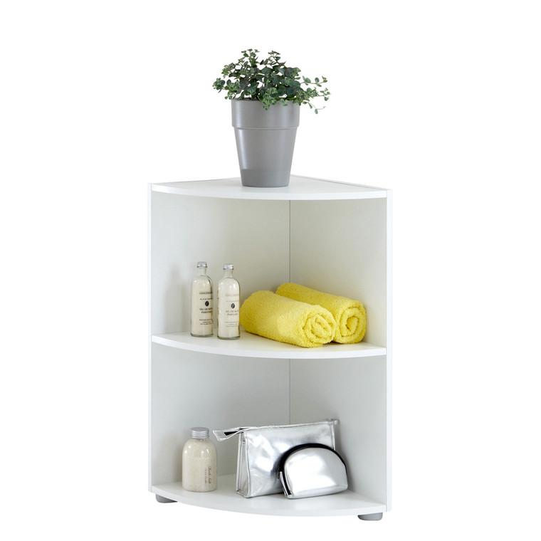 Tesoro 1 White Corner Shelf