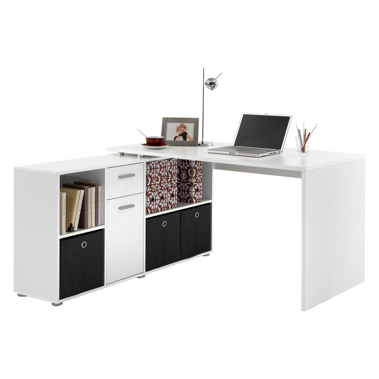 Tesoro White Computer/Office Desk
